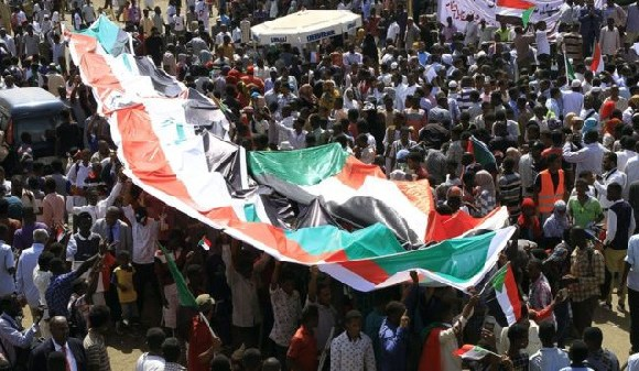 Thousands have gathered in Khartoum despite resignations from Sudan's ruling military council