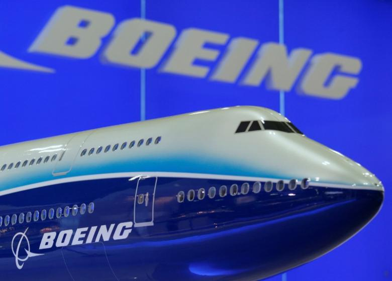 A model of Boeing 747 passenger plane is displayed at the Asian Aerospace Expo in Hong Kong