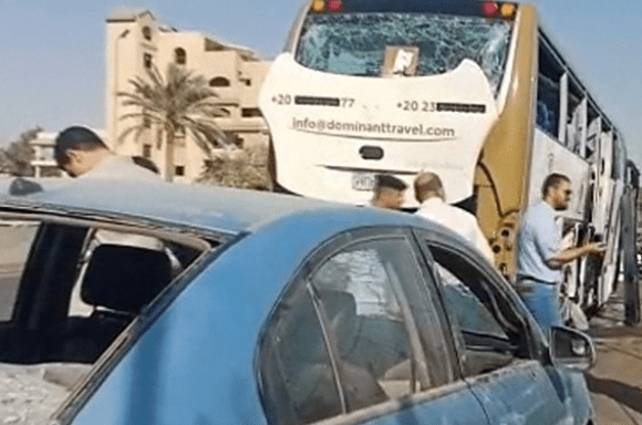Bomb targets tourist bus in Egypt