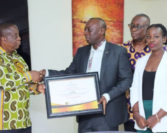 Chief Executive Officer of GOIL, Mr. Patrick Akorli received an award from officials of Road Safety