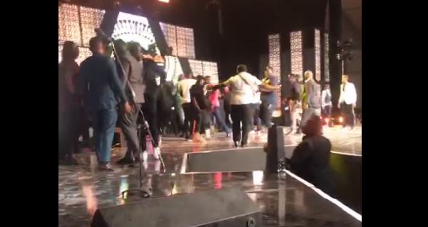 The chaos began when Shatta Wale and his crew mounted the stage uninvited