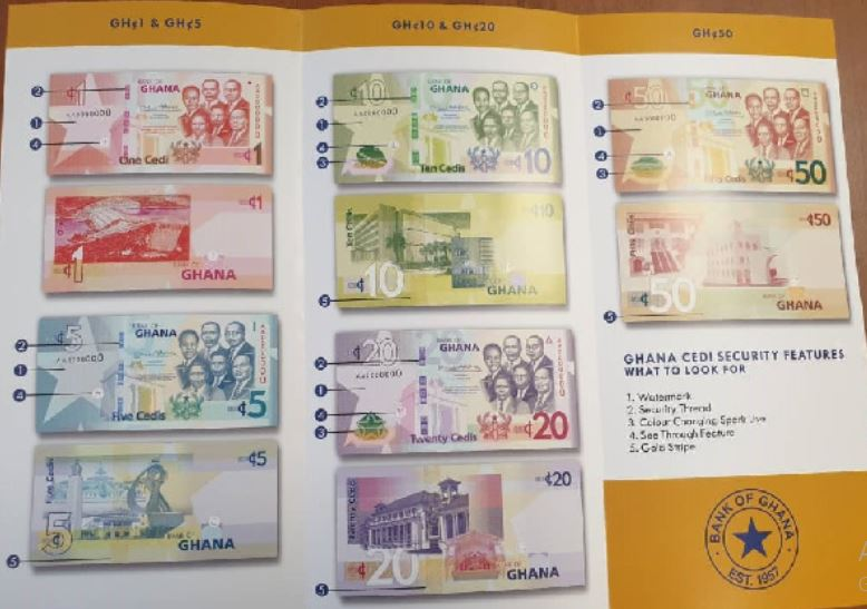 Upgraded cedi notes