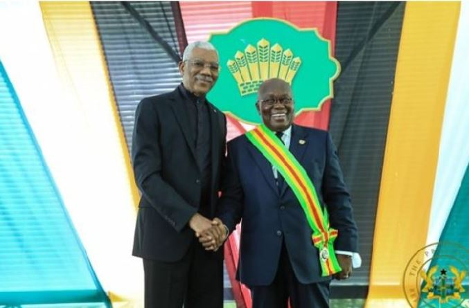 His Excellency David Arthur Granger with President Akufo-Addo
