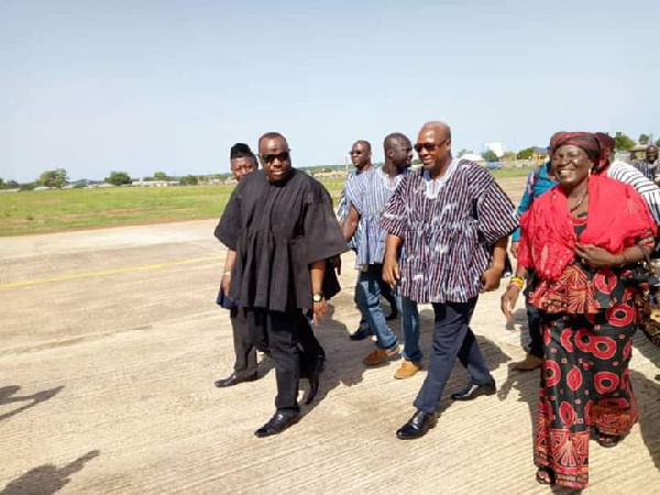 John Dramani Mahama was in the Upper West Region to mourn with the family of the late Chairman Water, Ghana Political News Report Articles