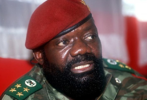 Jonas Savimbi, known as the 'black rooster', was killed in February 2002