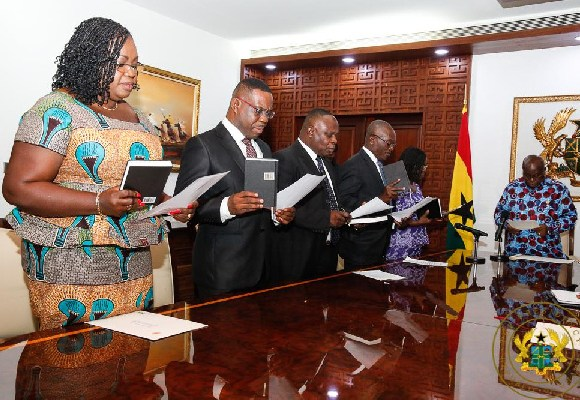 The committee on emoluments taking an oath of office