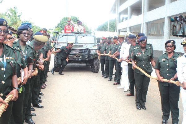 Brigadier General Michael Akwasi Yeboah Agyapong (hands raised) been pulled out of office