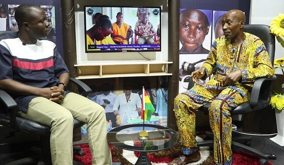 Frazer Aryee in an interview with Crimecheck Ghana