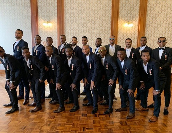 Madagascar squad visited the President after their exit from the AFCON