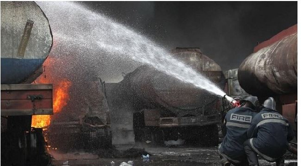 The tanker loaded with fuel caught fire resulting in the death of over 50 persons