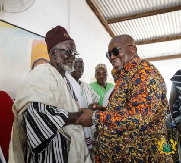 President Akufo-Addo with the Bawku Naba