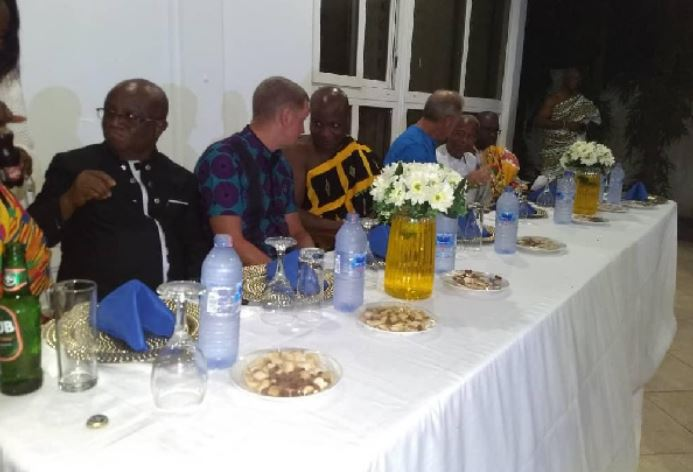 Togbe Afede XIV hosted Iain Walker and Andrews Barnes in his private residence in Ho
