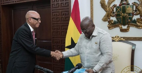 President Akufo-Addo and Justice Emile Short