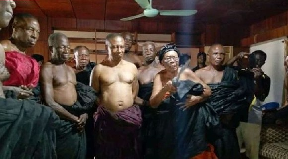 The Queen mother and elders of the family