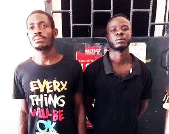 The suspects Francis Kwaku Azumah (L) and Kobby (R)