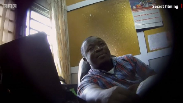Dr Paul Kwame Butakor was caught on camera by the BBC Africa Eye undercover journalists