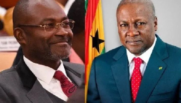 Kennedy Agyapong, MP for Assin Central and John Dramani Mahama, former President