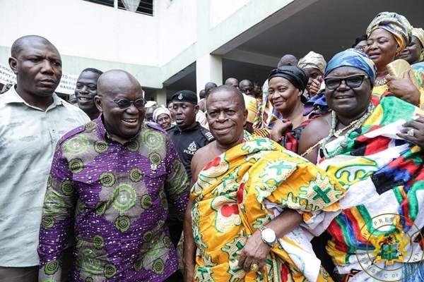 Some of the chiefs and elders with President Akufo-Addo