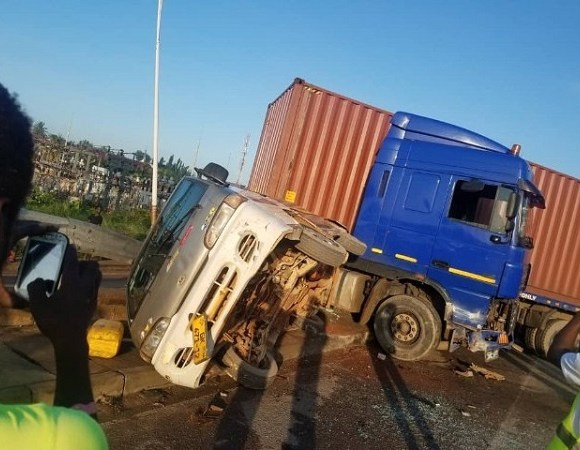 The accident occured on Monday morning