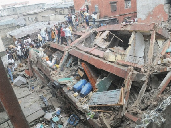 The building collapsed during a heavy downpour in the area on Wednesday afternoon (File Photo)