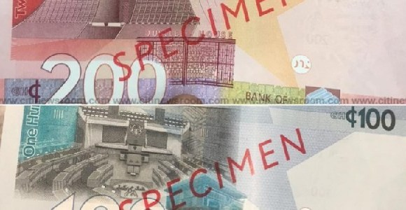 New GHc100 and GHc200 notes specimen