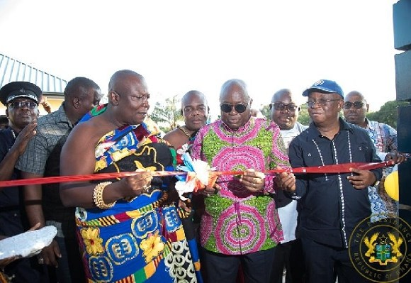 President Akufo-Addo and Togbui Amenya Fiti V, Paramount Chief of the Aflao Traditional Area