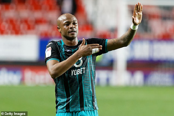 Swansea City forward Andre Ayew