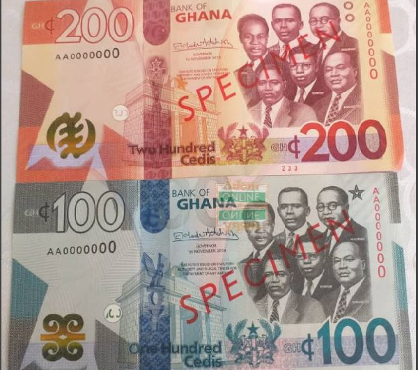The new GHC100 and GHC200 notes