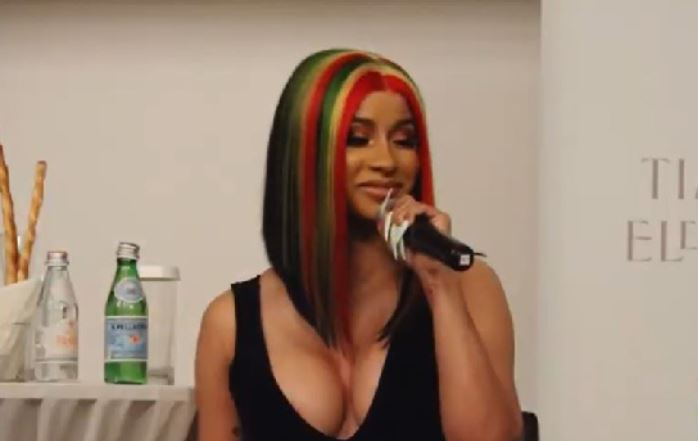 Cardi B in Ghana colours