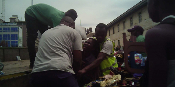 Nursing mother beaten by AMA guards at Makola