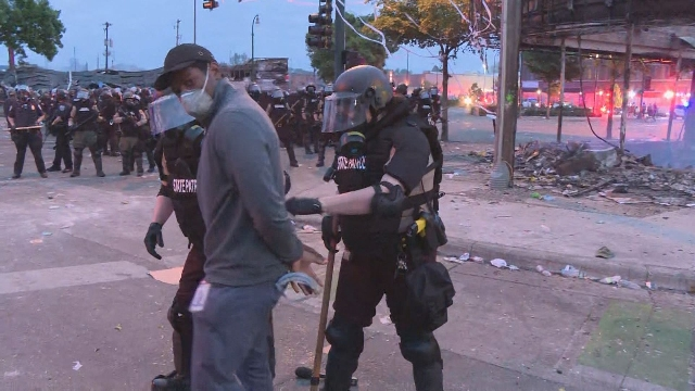 CNN reporter Omar Jimenez being arrested by police live on air