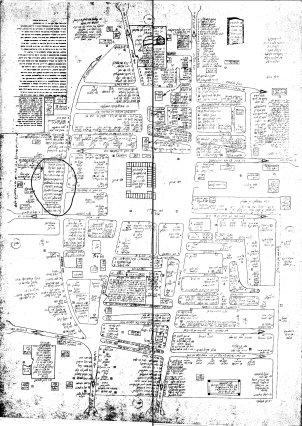 Antopol. Marcado con un círculo la ubicación de las viviendas de la flia. Czerniuk (aporte de Marcelo Sigal Czernuk)