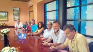 reunion Ayuntamiento Dos Hermanas CCOO y UGT