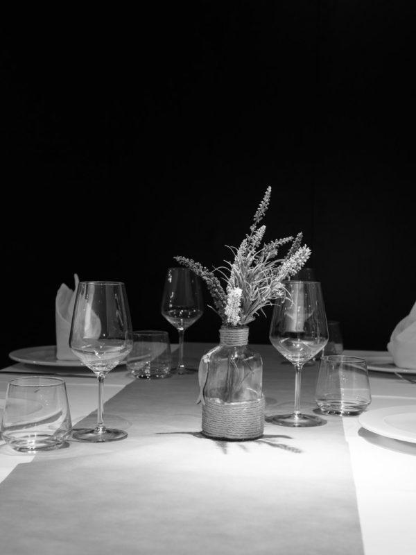 Fotografía dunha mesa do restaurante Tribeka, A Coruña