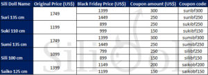 Sex Doll Black Friday Coupon 2016