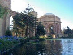 The palace itself was built as a temporary work of art in 1915 for the Panama-Pacific Exposition.