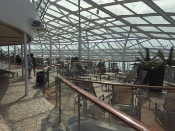 The Solarium spans two decks, and the top deck has a bar and ample shade.