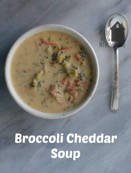 Delicious and creamy broccoli cheddar soup like Panera makes. No processed cheese. Just tasty, real ingredients.