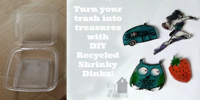 Find out how to make your own shrinky dinks using garbage! A fun, free recycled craft that your kids (and you!) will love!