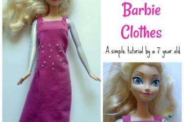 How to Make Upcycled Barbie Clothes