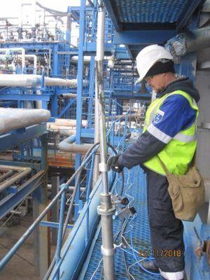 Обработка проводилась по ходу отходящих газов