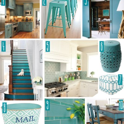 Color Series; Decorating with Teal
