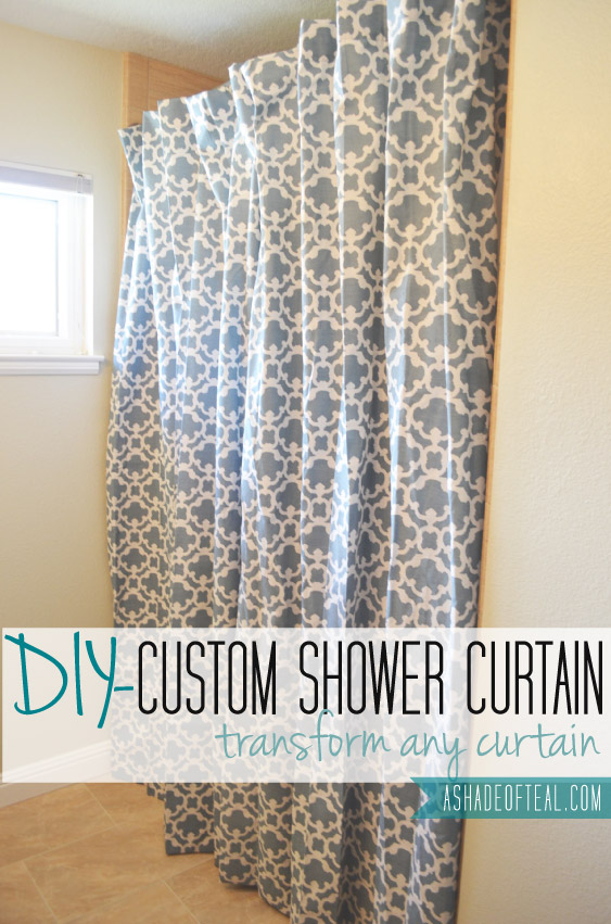 making an extra long shower curtain