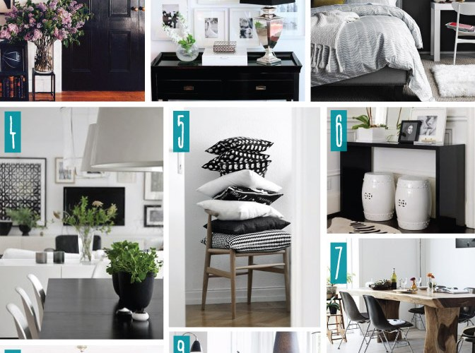 Color Series; Decorating with Black