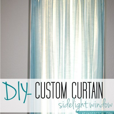 Custom Curtain- Front Door Window
