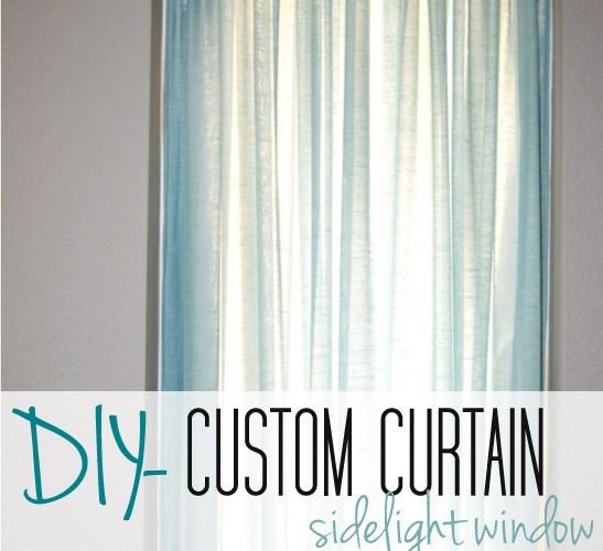Custom Curtain- Front Door Window