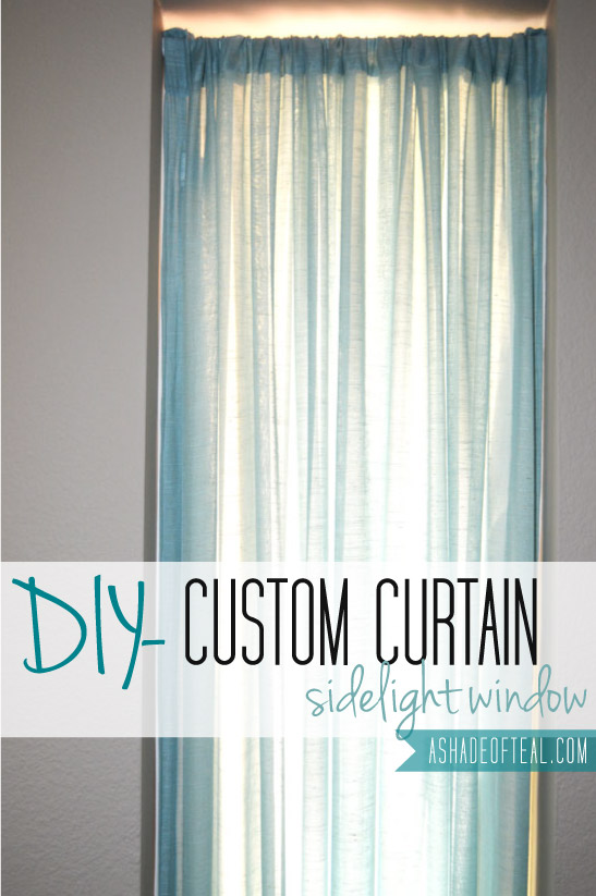 Custom Curtain  Front Door Window. Entry Door Sidelight Curtains. Home Design Ideas