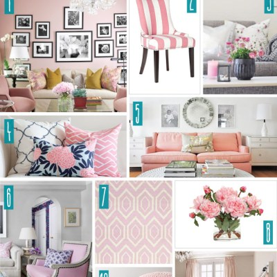 Color Series; Decorating with Lt Pink