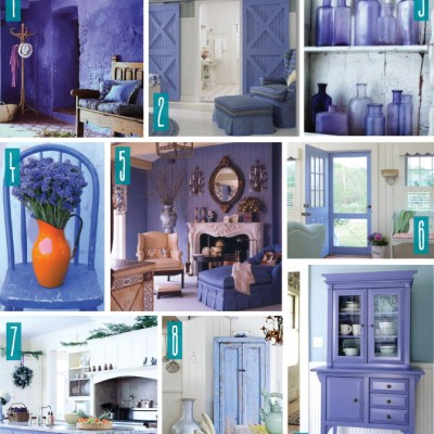 Color Series; Decorating with Periwinkle