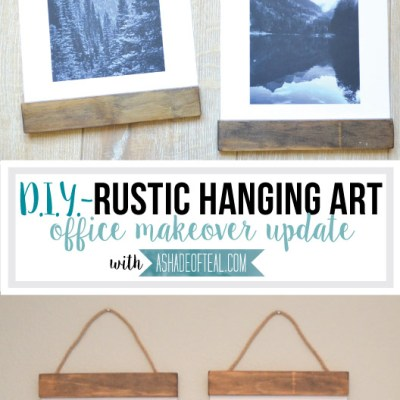 DIY- Rustic Hanging Art